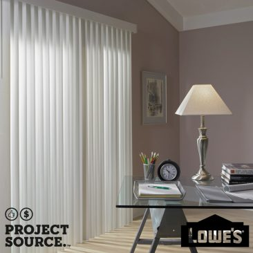 Cordless White Vinyl Light Filtering Vertical Blinds