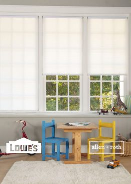 White Light Filtering Cordless Polyester Pleated Shade