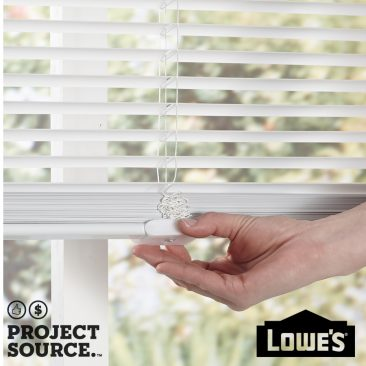 1-in Cordless White Vinyl Room Darkening Mini-Blinds