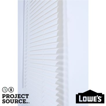 1-in Cordless White Vinyl Light Filtering Mini-Blinds