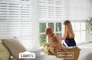 Cordless White Faux Wood Room Darkening Horizontal Blinds